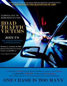 National Day of Remembrace for Road Crash Victims 2016